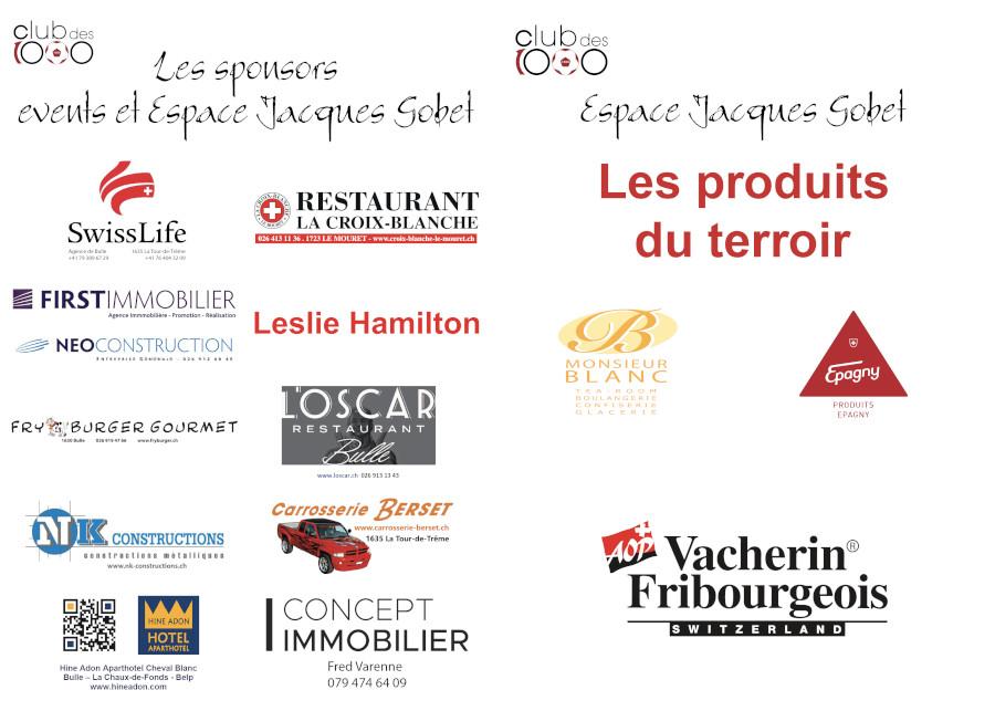 affichettes sponsors events Club des 1000 et food 2019