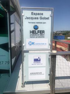 Historique des sponsors pour la réalisation et le relookage de l'EJG
