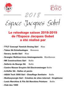 Les sponsors du relookage de l'EJG 2018