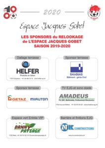 Les sponsors du relookage de l'EJG 2020